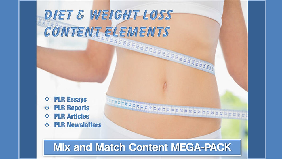 Diet and Weight Loss Mix and Match CONTENT Collection