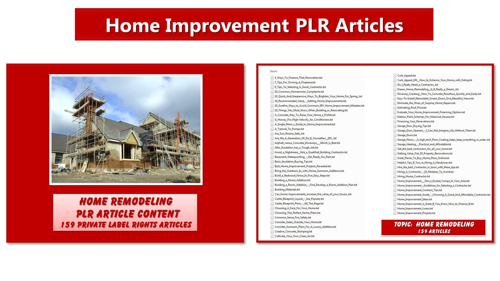 Home Improvement Plr Article And Image Mega Pack Plrcontentsource