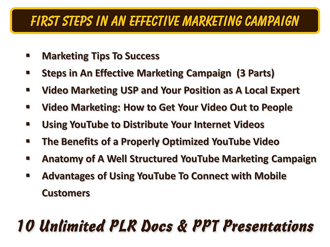 First Steps In An Effective Marketing Campaign