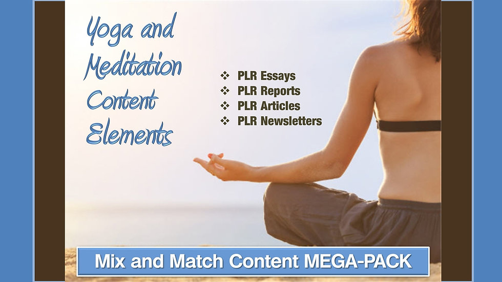Yoga and Meditation Mix and Match CONTENT Collection