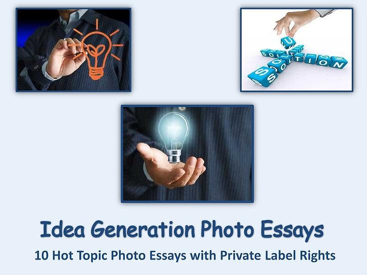 10 PLR Idea Generation Photo Essays