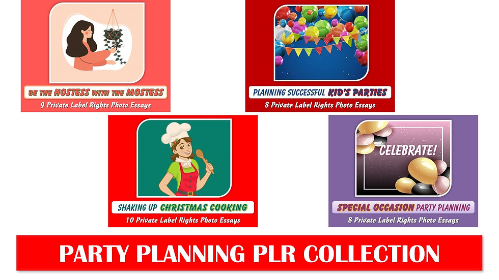 Party Planning PLR Photo Essay Collections