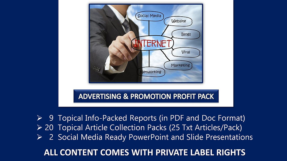 Advertising and Promotion Private Label Profit Pack
