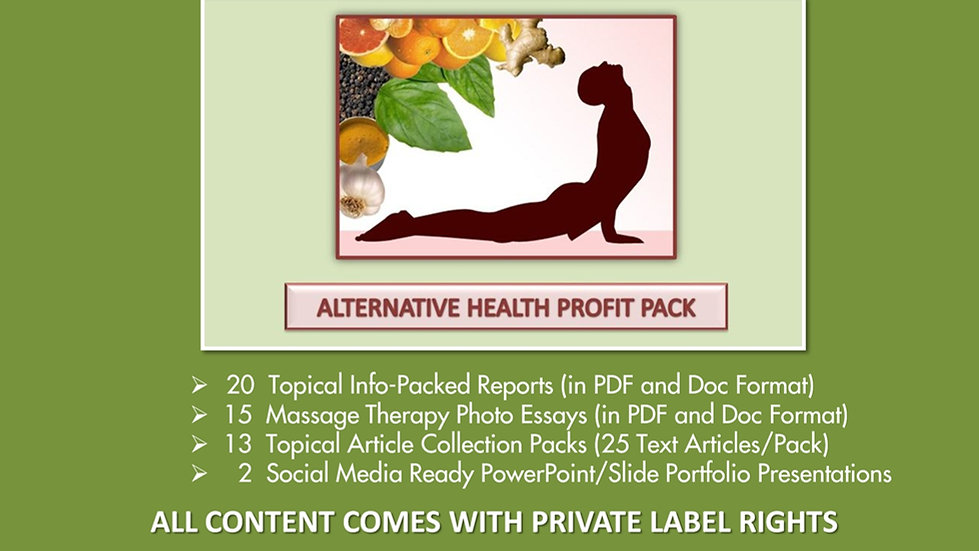 Alternative Health PLR Profit Pack