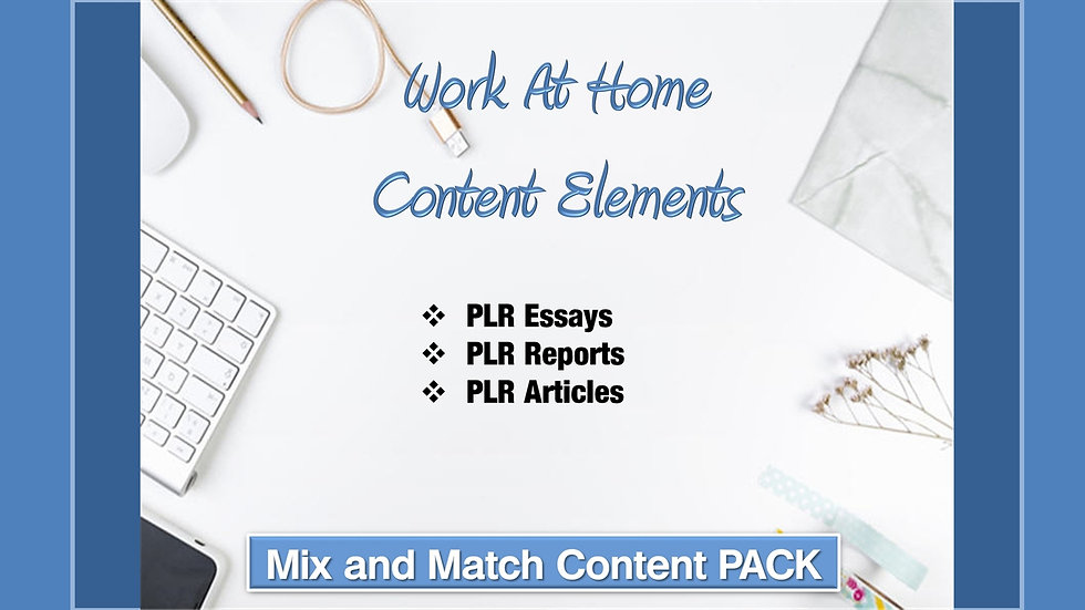 Work at Home Mix and Match CONTENT Collection