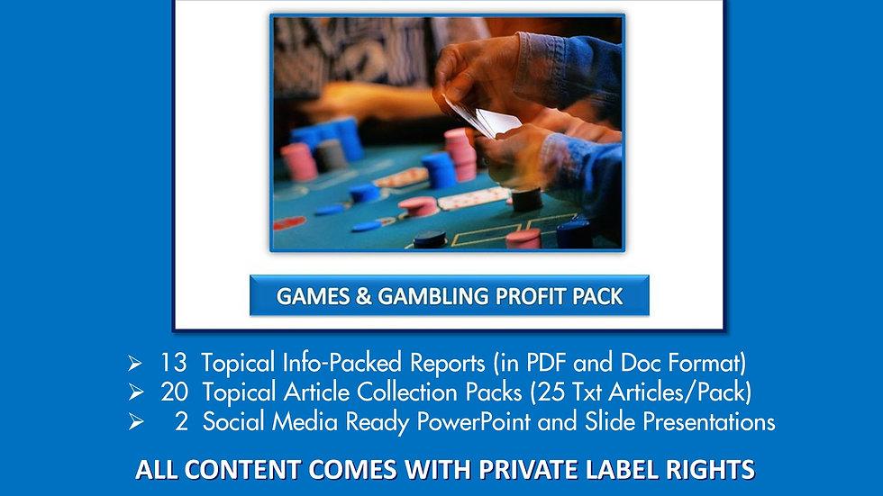 Gaming and Gambling Private Label Profit Pack