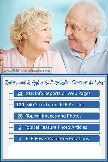Retirement and Aging Well Turnkey Content Sites