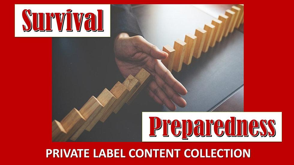 Survival Preparedness PLR Product Pack