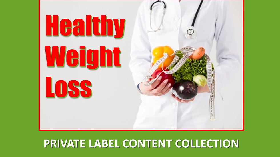 Healthy Weight Loss PLR Product Pack