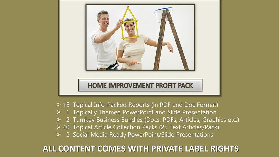 Home Improvement Private Label Profit Pack