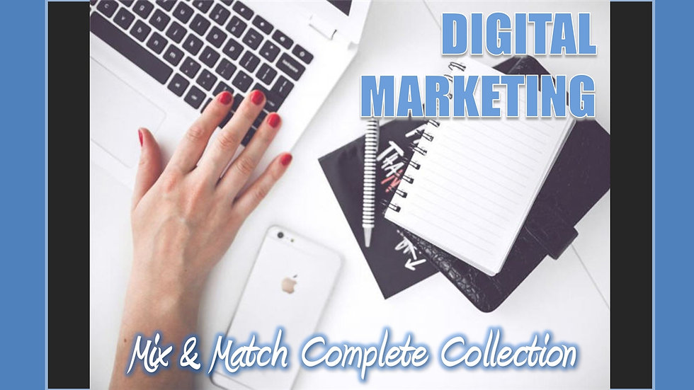 Digital Marketing Mix and Match COMPLETE Collection