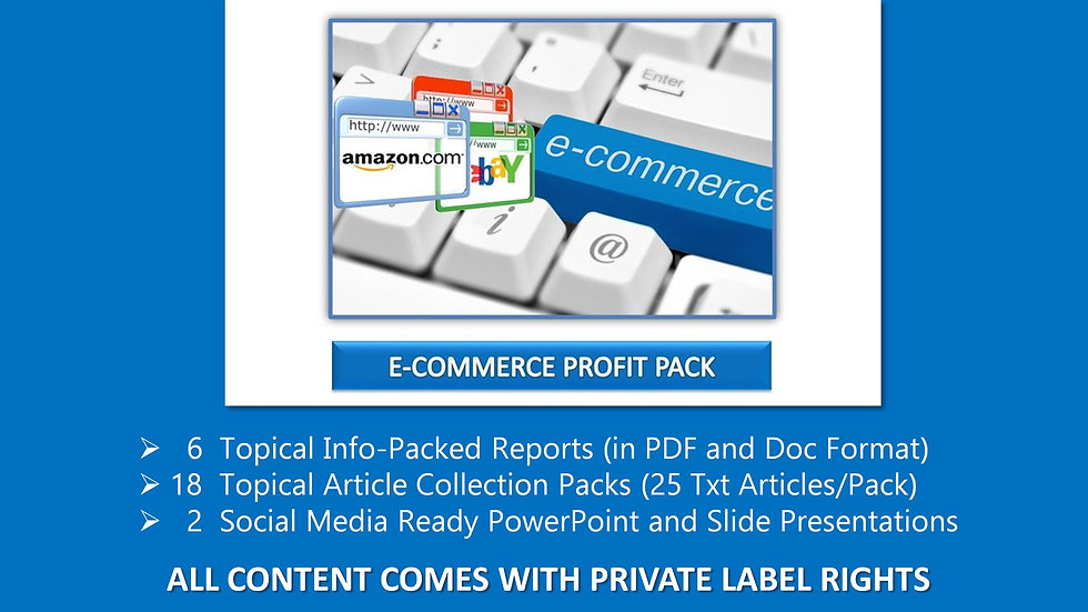 eCommerce Private Label Profit Pack