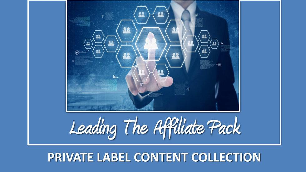 Leading The Affiliate Pack PLR Pack