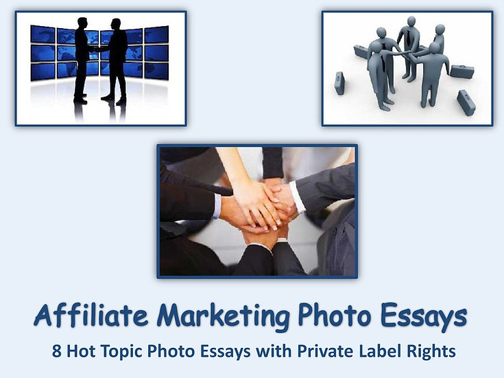8 PLR Affiliate Marketing Photo Essays