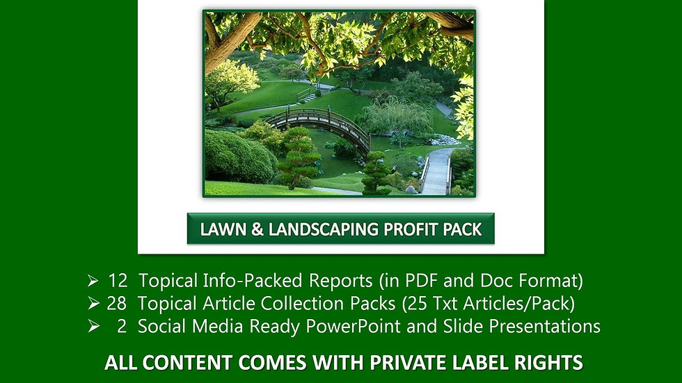 Lawn and Landscaping Private Label Profit Pack