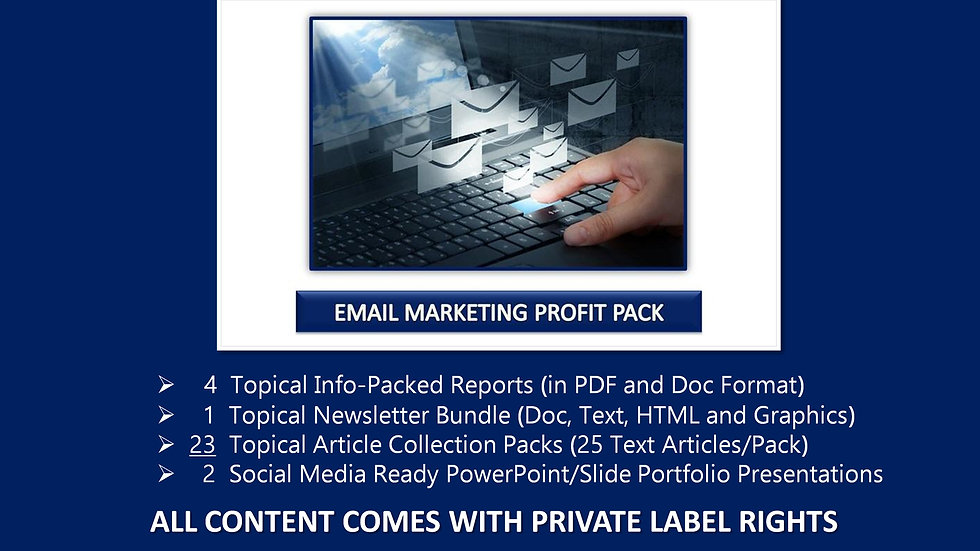 Email Marketing Private Label Profit Pack