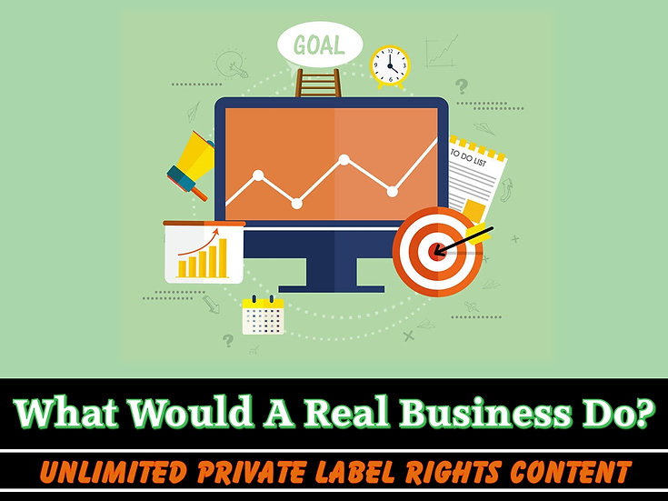 What Would A Real Business Do Unlimited PLR Pack