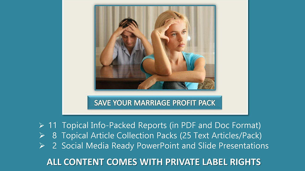 Save Your Marriage Private Label Profit Pack