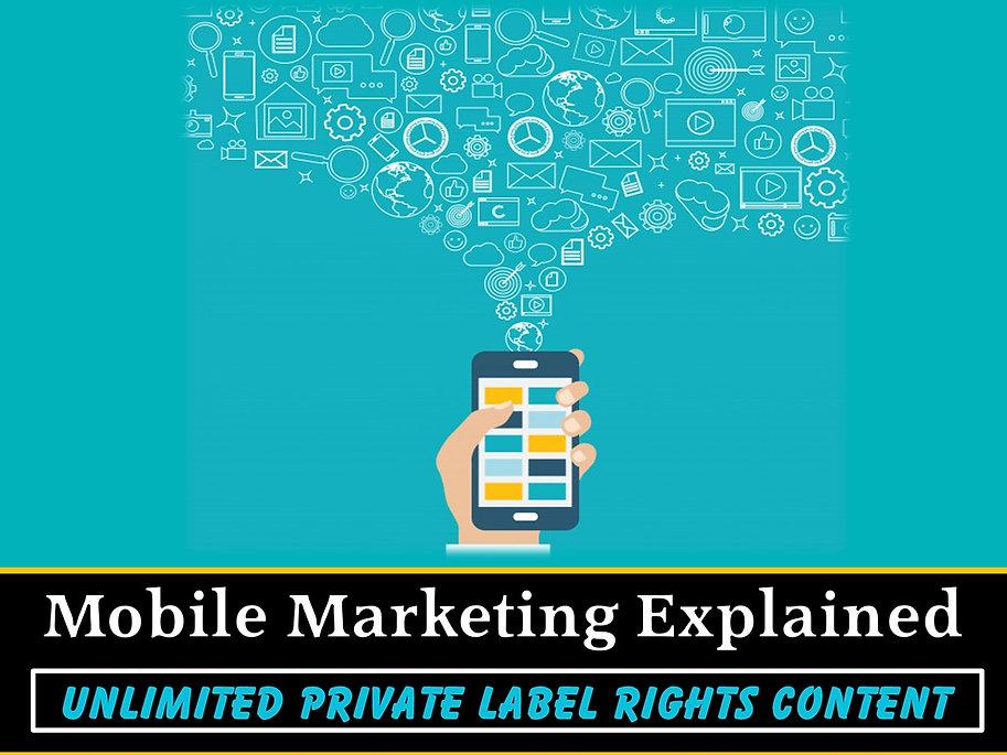 Mobile Marketing Explained