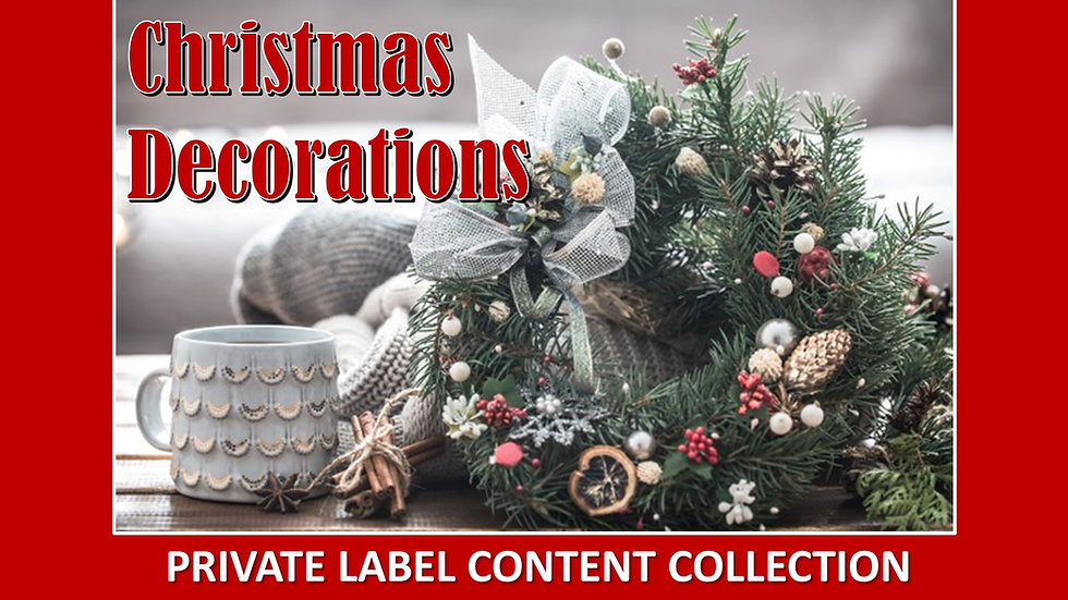 Christmas Decorating PLR Product Pack