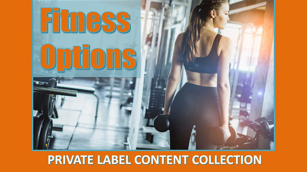 Fitness Options PLR Product Pack
