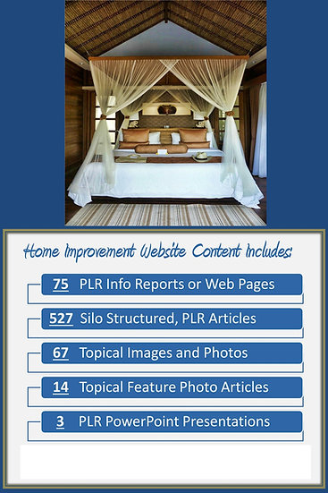 Home Improvement Turnkey Content Sites
