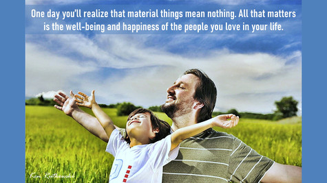Material things mean nothing