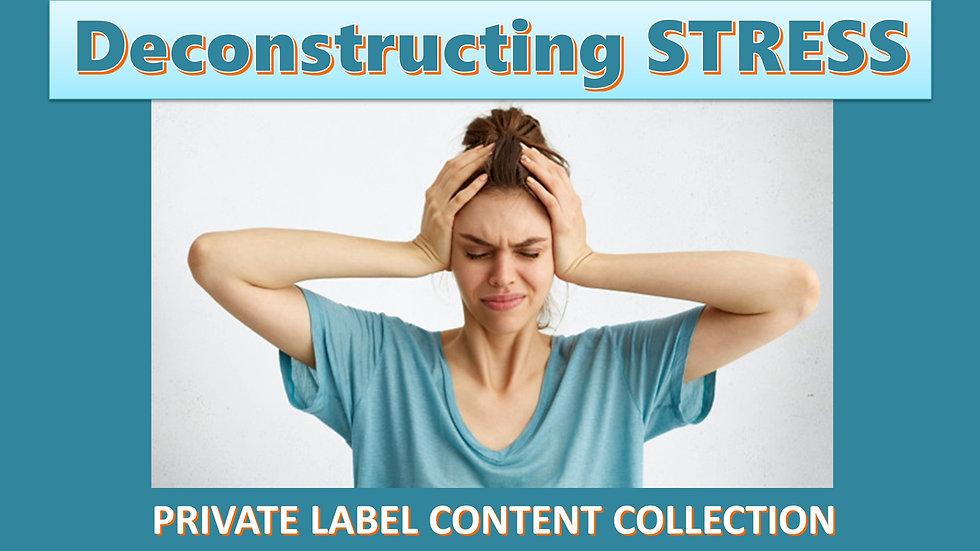 Deconstructing Stress PLR Product Pack