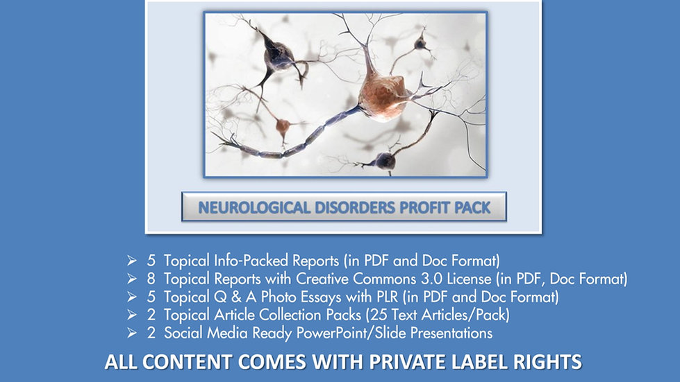 Neurological Disorders Private Label Profit Pack