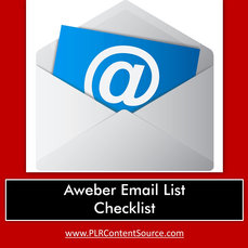 AWEBER EMAIL CHECKLIST