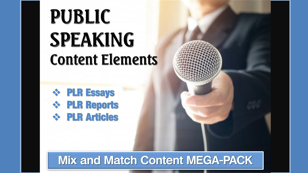 Public Speaking Mix and Match CONTENT Collection