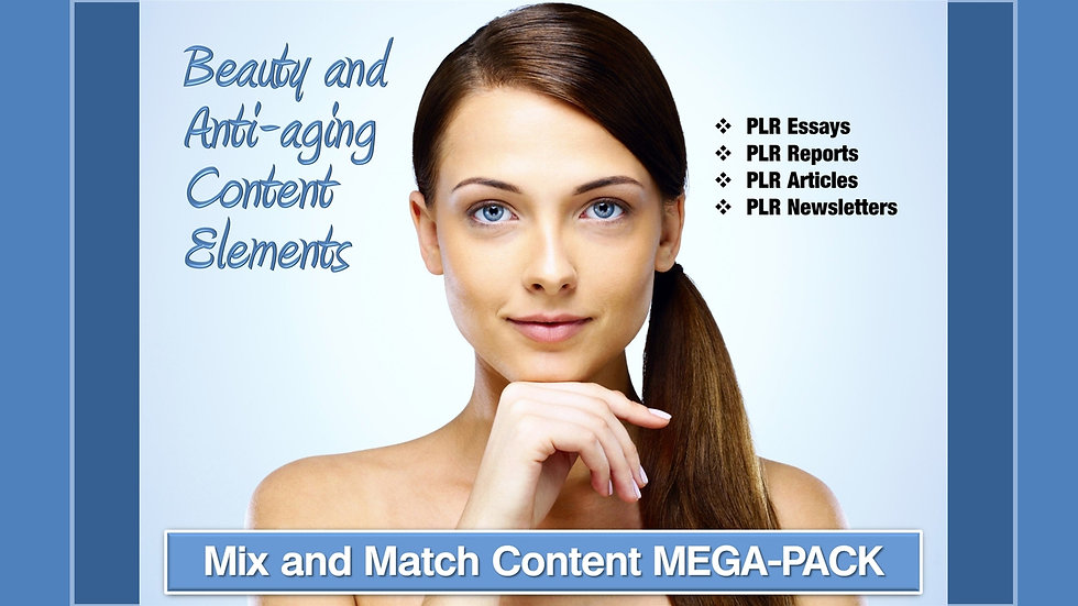 Beauty and Anti-Aging Mix and Match CONTENT Collection