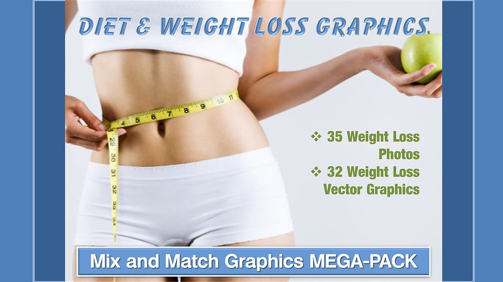 Diet and Weight Loss Mix and Match GRAPHICS Collection