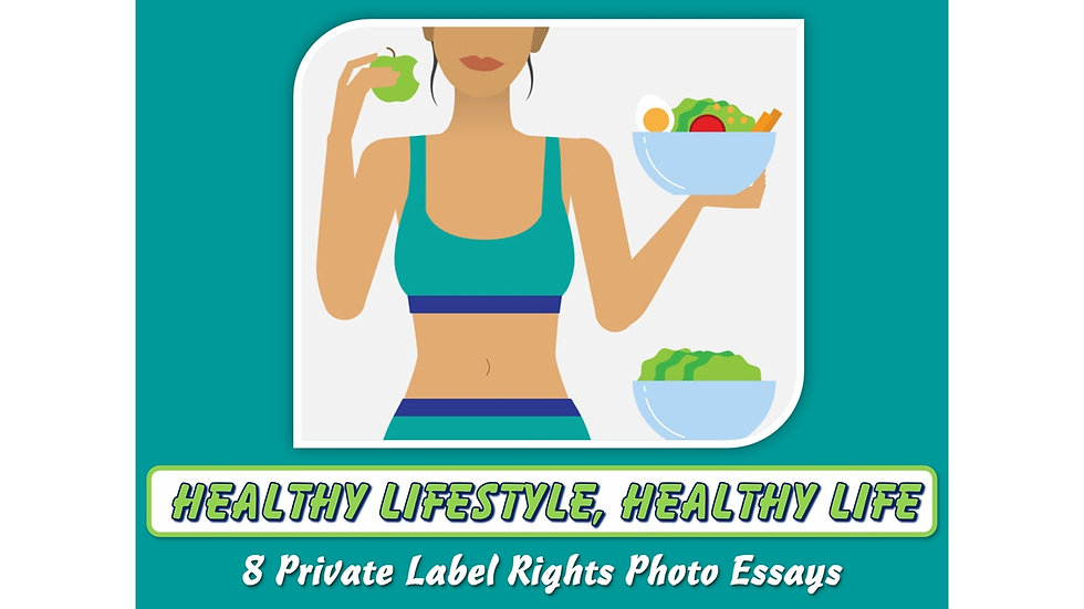 Healthy Lifestyle, Healthy Life Private Label Content Pack