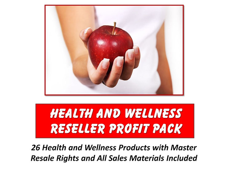 Health and Wellness Reseller Profit Pack