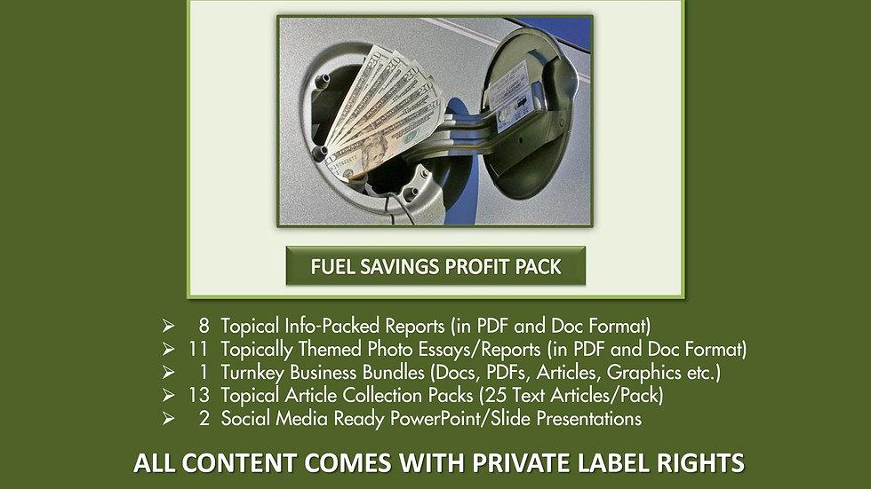 Fuel Savings Private Label Profit Pack