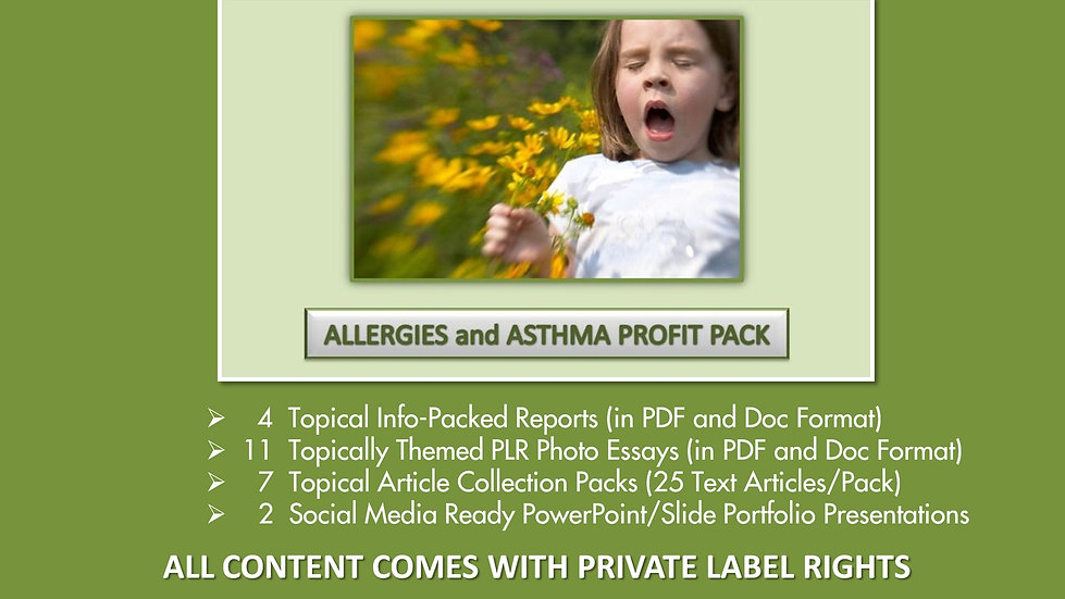 Allergies and Asthma Private Label Profit Pack