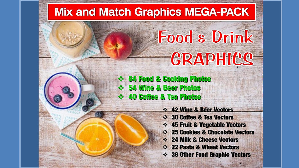 Food and Drink Mix and Match GRAPHICS Collection