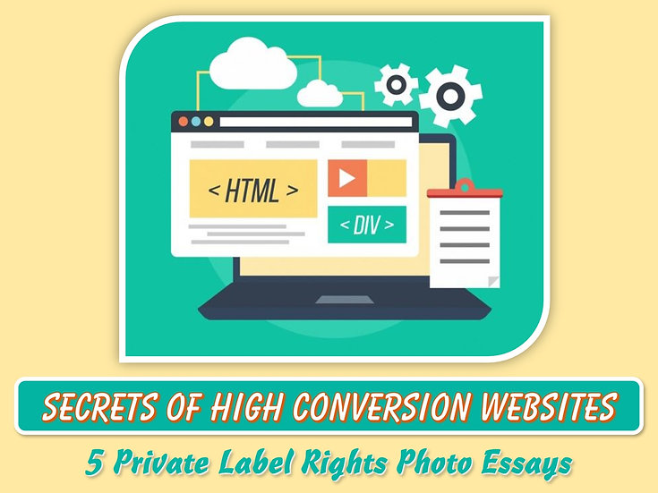 Secrets of High Conversion Websites Private Label Content Pack