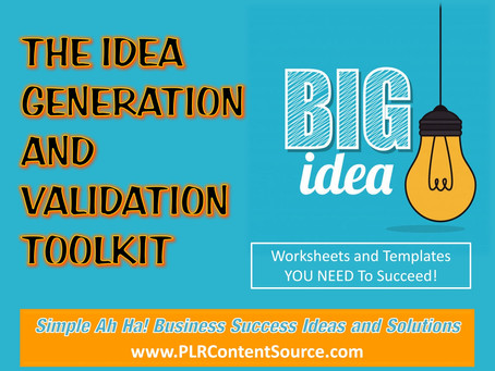 Idea Generation and Validation Worksheets