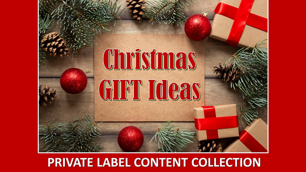 Christmas Gift Ideas PLR Product Pack