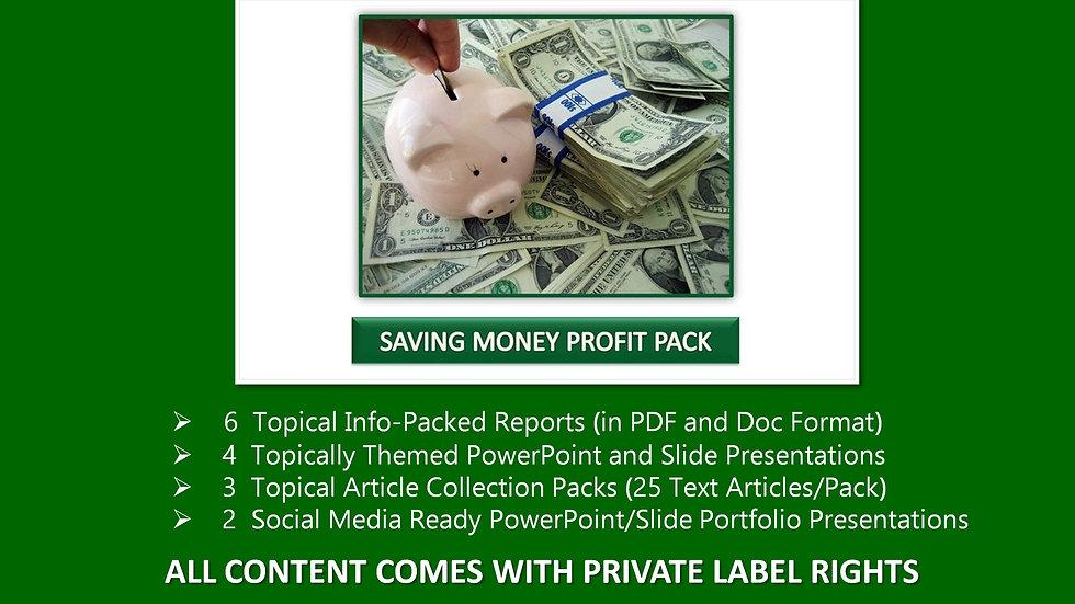 Saving Money Private Profit Pack