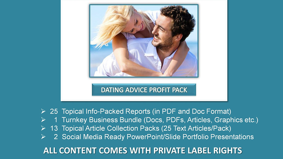 Dating Advice Private Label Profit Pack