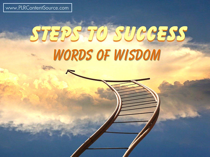Steps To Success Words of Wisdom Video Quote Collection