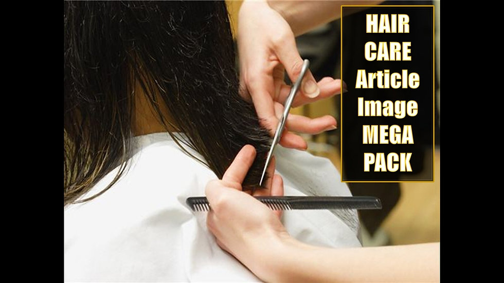 Hair Care PLR Article and Image MEGA Pack