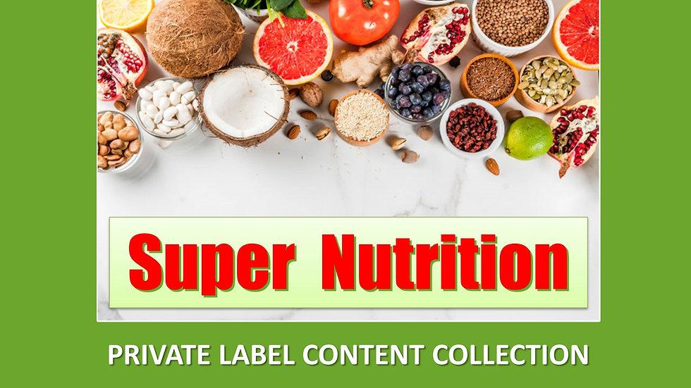 Super Nutrition PLR Product Pack