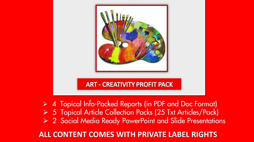 Art and Creativity Private Label Profit Pack