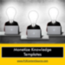 Monetize Knowledge Templates