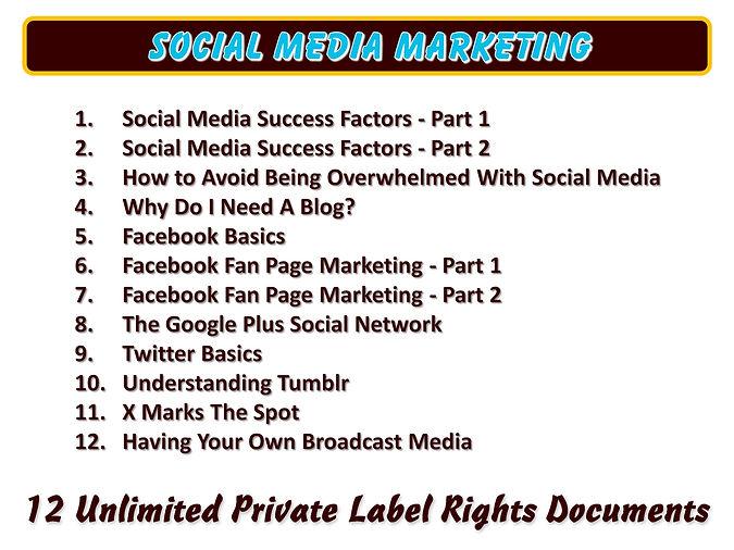 Social Media Markting Content