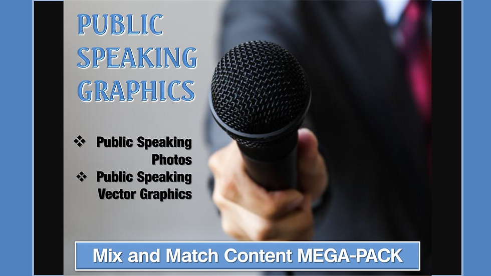Public Speaking Mix and Match GRAPHICS Collection